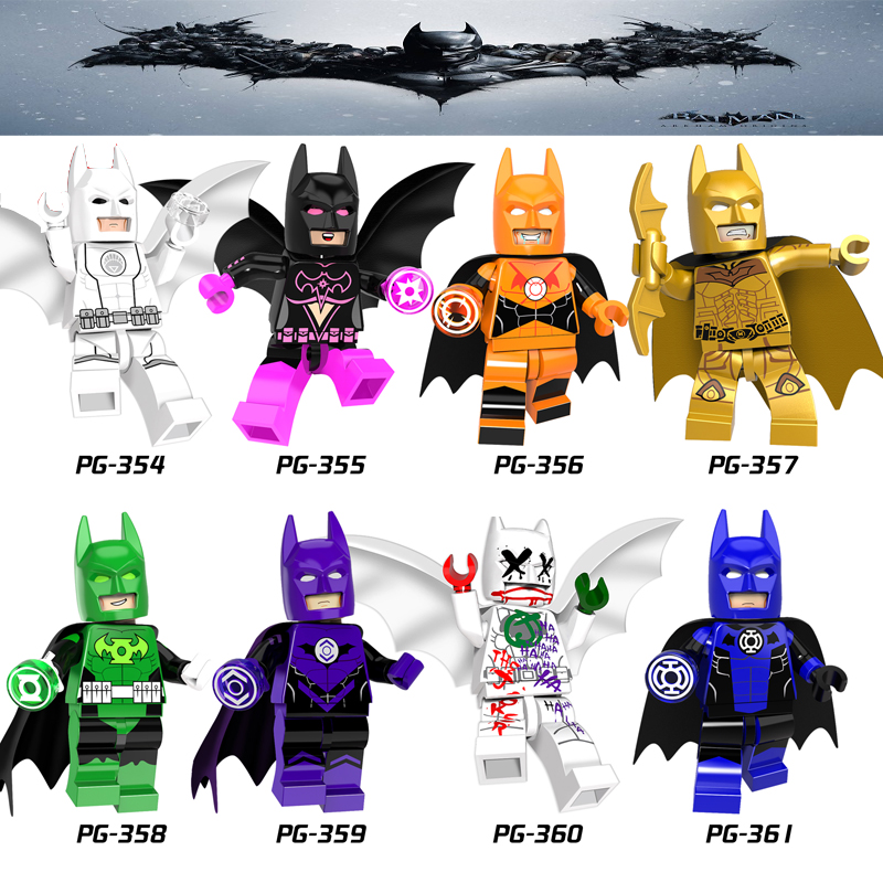 Single Sale Batman Model Blocks Legoings DC Marvel Batman Joker Quinn Poison Ivy Super Heroes Legoing  Avengers Figures Bricks