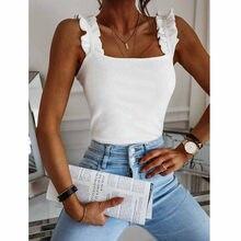Chemisier femmes Vintage chemises femmes solide sans manches chevauchement croix fronde culture ShirtTop Ropa Mujer Haut Femme