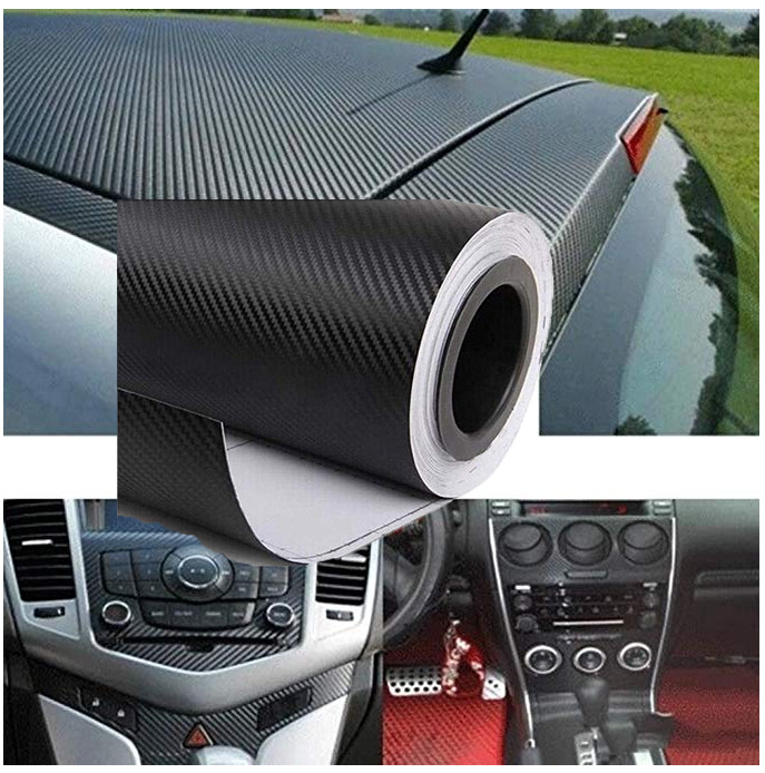 Self Adhesive Stickers Black Carbon Fiber Wrap Roll Sticker Sheet Decorative Practical Paster For Car Phone Laptop Furniture