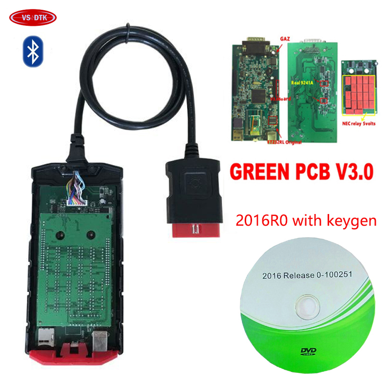 HOT SALE! Best V3.0 Board VD TCS CDP For Delphis VD DS 150E CDP Plus Bluetooth Car Truck Auto Scanner Scan Tools .
