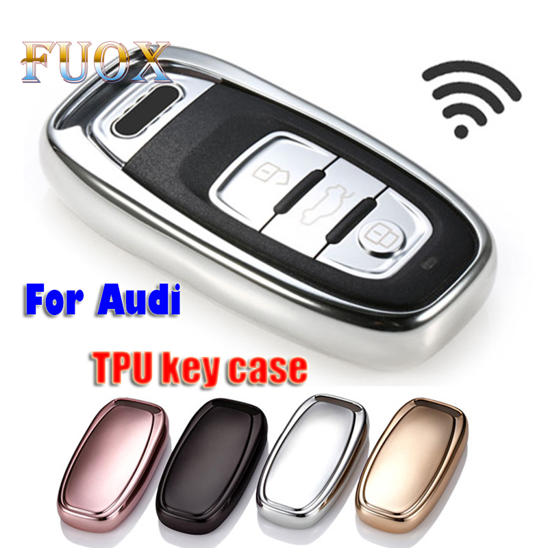 Car TPU Remote Smart Key Cover Fob Case Shell For <font><b>Audi</b></font> A1 A3 A4 A5 <font><b>A6</b></font> A7 A8 Quattro Q3 Q5 Q7 2009 2010 2011 2012 2013 <font><b>2014</b></font> 2015 image