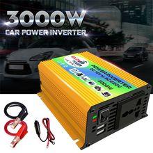 цена на OOTDTY Boat Car 3000W Converter Power Inverter DC 12V to AC 220V Invertor USB Charger A5YD
