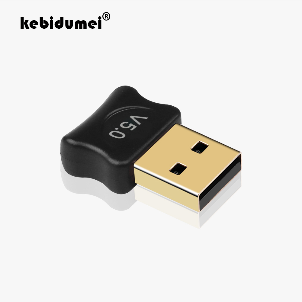 Bluetooth V5.0 Wireless USB Mini Dongle Adapter For Windows PC Laptop Lw