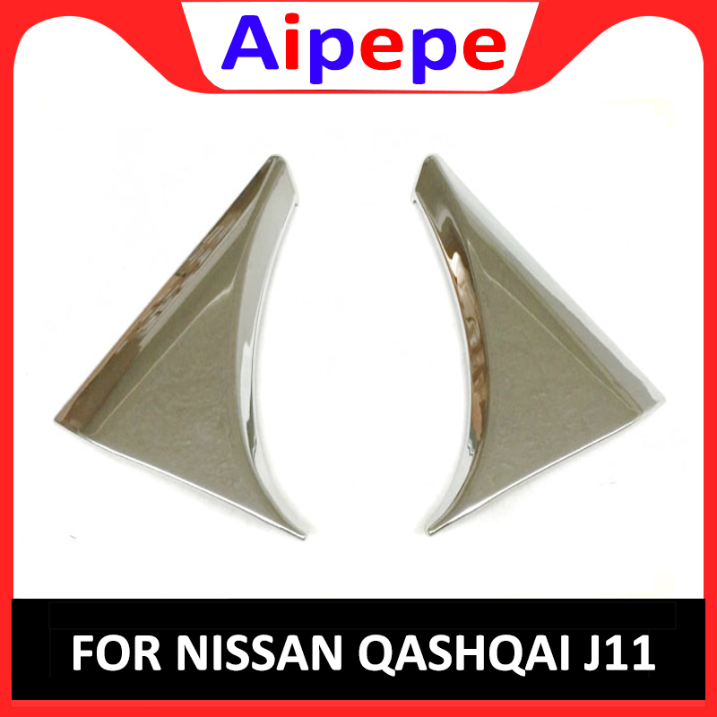 STYLING ACCESSORIES FIT FOR NISSAN QASHQAI 2014 2015 2016 2017 SIDE REAR WINDOW SPOILER CHROME COVER TRIM TRIANGLE GARNISH BEZEL