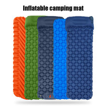 Camping Mat Inflatable Mattresses Camp Air Mattress Outdoor Mat 4 Color Tent Mat Ultralight Sleeping Pad Hiking Folding Bed