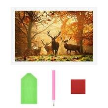 Набор для алмазной 5d живописи с полными стразами лес олень