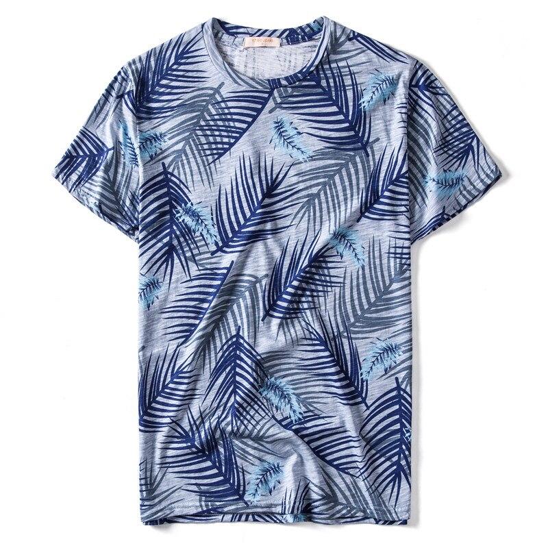 2020 New Design 100% Cotton Print T-shirt Men Casual Fashion Hawaii Style Summer T Shirt O-neck Mens Tshirts Quality Tops Men