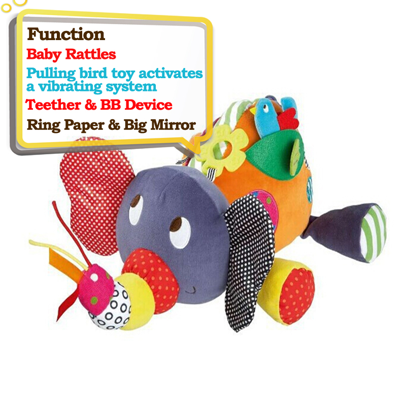 Educational Toys For Baby 0 12 Month Cartoon Plush Elephant Baby Rattles Toys in Baby Rattles Mobiles from Toys Hobbies