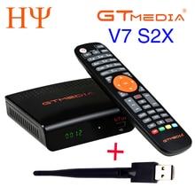 2 قطعة GTMEDIA V7S V7 S2X Freesat V7S HD USB واي فاي DVB S2 دعم powervu يوتيوب استقبال الأقمار الصناعية freesat v7S GTMEDIA