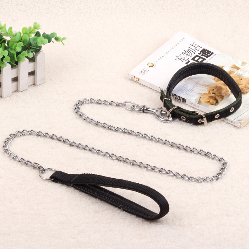 Iron Chain Dog Hand Holding Rope Teddy Golden Retriever Rope Dog Chain Pet Supplies Medium Large Dogs Neck Ring Small