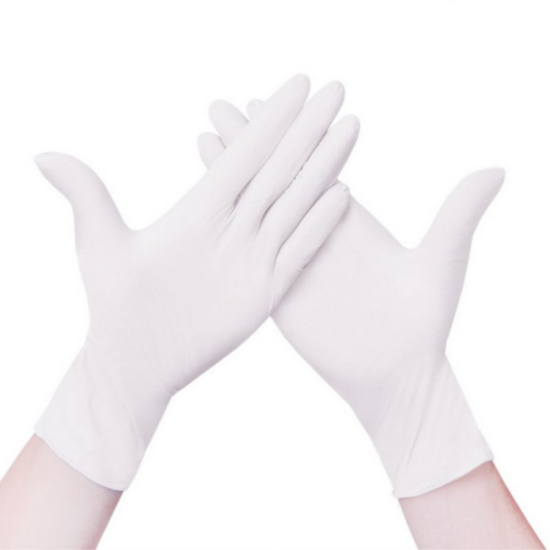 100 PCS Disposable Pvc Powder-free Wear-resistant Antistatic Nitrile Gloves Protective Gloves Transparent And Durable