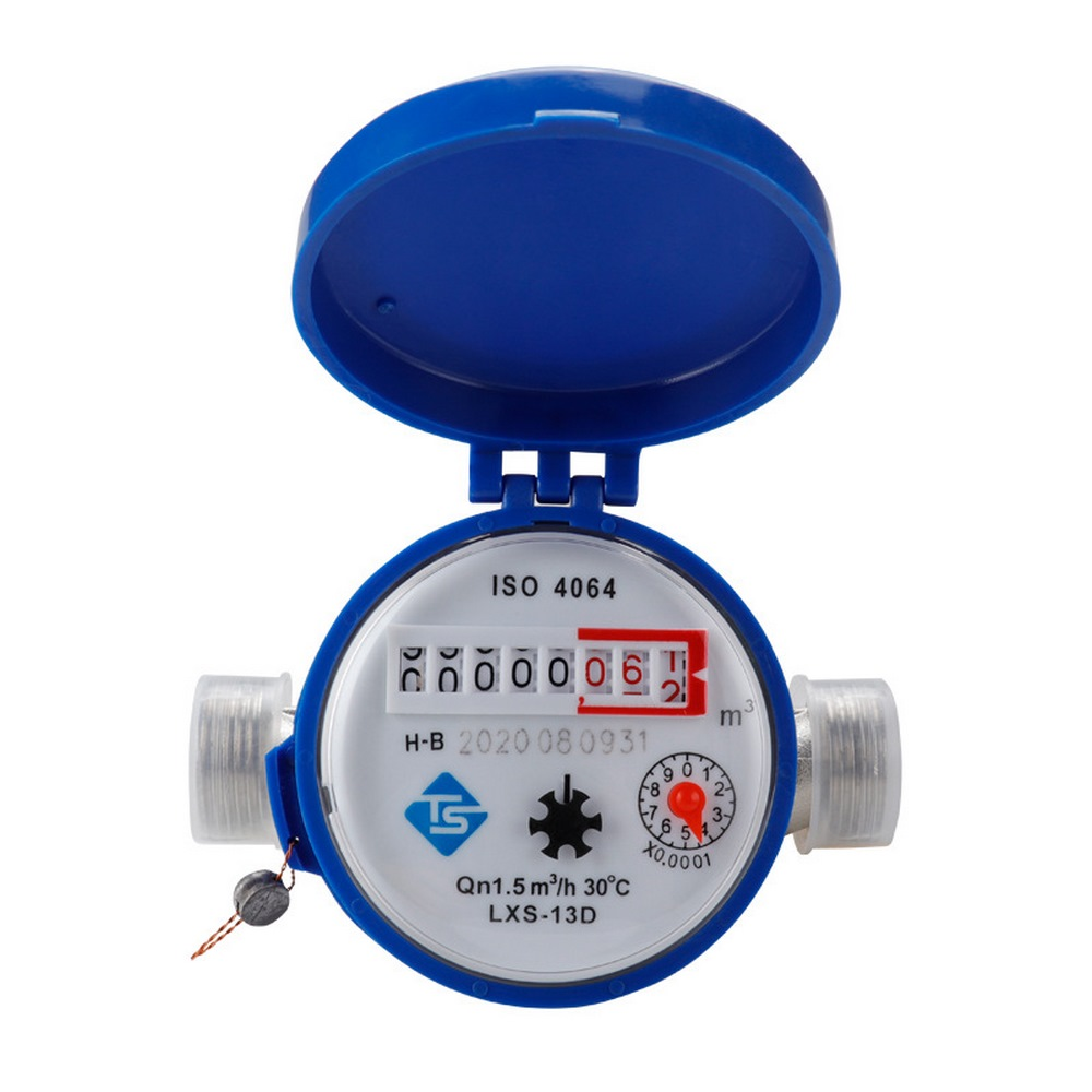 Cold Water Meter  Heavy Duty Brass Flow Measure Tap Home Garden Wet Table Mechanical Rotary Pointer Counter Measuring Tools