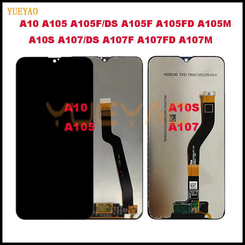 A10S 2019 A107 SM-A107FD SM-A107DS LCD Display For Samsung Galaxy A10 A105 A105F SM-A105F LCD Display+Touch Screen Digitizer