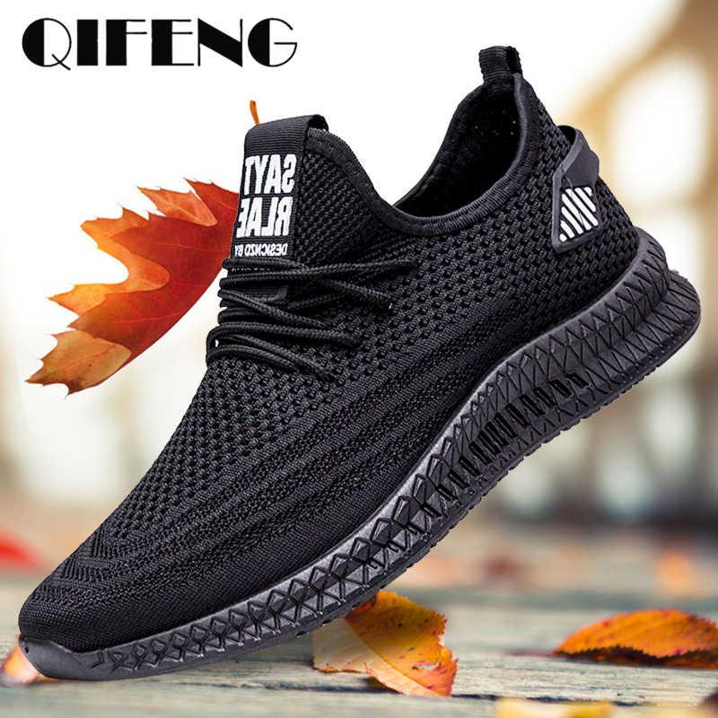 Erkekler rahat ayakkabılar bahar örgü spor ayakkabı siyah koşu ayakkabıları yaz yeni ucuz Sapatos De Mujer moda ışık nefes erkek ayakkabıları