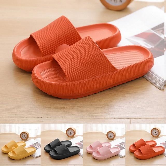Slippers Women Fashion Summer Non-slip Sandals Shoes Beach Slides High Heels Shower Slipper Soft Sole Women Men Ladies Bathroom 1