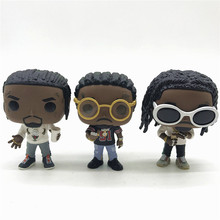 Rocks Offset Takeoff Migos Music Model Character Vinyl Doll Action Figure Collection No Box rocks alice cooper hot topic 68 69 music model character vinyl doll action figure collection no box