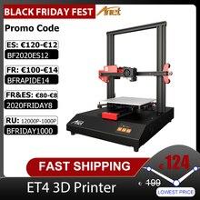 Imprimante 3D Anet ET4/ET4 Pro 10 Minutes se réunissent avec limpression de reprise décran tactile couleur de 2.8 pouces/détection de Filament/nivellement automatique