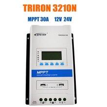 EPEVER TRIRON MPPT 30A контроллер солнечного заряда 12 В 24 В Авто черный свет ЖК модульный солнечный регулятор отрицательная заземление