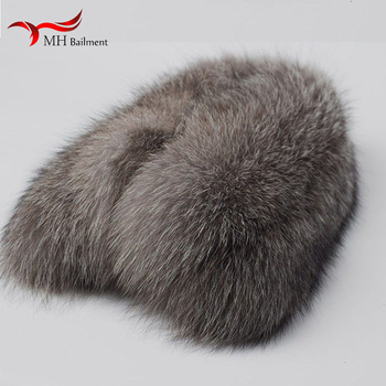 Silver fox fur collar winter coat fur fashion scarf women real fur collars in the fall winter of men luxury brand scarves shawl image