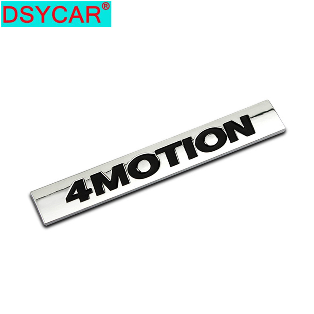 DSYCAR 1Pcs 3D Metal 4 MOTION Car Side Fender Rear Trunk Emblem Badge Sticker Decals for Volkswagen Sagitar Golf Magotan Polaris image