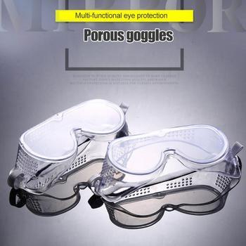 Okulary ochronne wyczyść przeciwmgielne okulary ochronne Eye Face chemiczne okulary ochronne ochrona UV przemysłowe okulary ochronne tanie i dobre opinie Unisex Z tworzywa sztucznego Direct Vent ANSI Z87 1 2003 High Impact