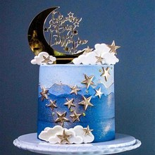 Party-Supplies Cupcake Toppers Party-Decoration Moon Wedding Birthday 1pcs Star Clouds