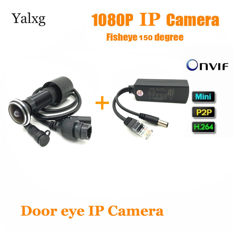 HD 2MP 1080P Indoor Door Eye Hole IP Home Security Poe Camera P2P Motion Sensor Wired Video Fish Eye Onvif P2P Peephole Camera