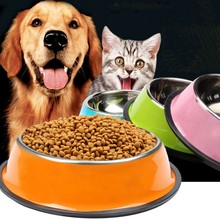 Dog-Bowls Dish-Fit Feeding-Feeder Pet-Puppy Stainless-Steel Travel Footprint for Big