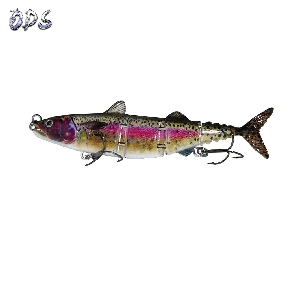 ODS 4 секции, плавающая приманка для тунца, 15 см, 31 г, бесплатный образец, рыболовные приманки, жесткие шарнирные приманки для ловли окуня в соленой и пресной воде - Цвет: 387