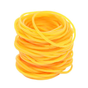 60mm Yellow Rubber Ring Bands Strong Elastic Hair Band Loop Office School Supplies