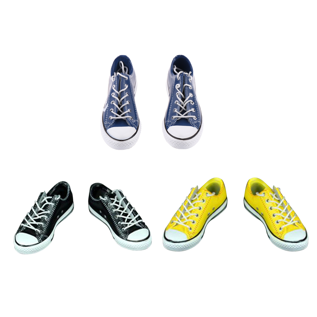 1//6 Male Figure Shoes Canvas Shoes Trainers for 12 Inch Action Figure Yellow