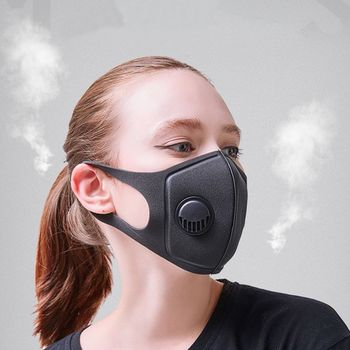 Women Sponge Dustproof PM2.5 Pollution Half Face Mouth Mask With Breath Wide Straps Washable Reusable Respirator