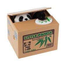 Panda gato ladrão caixas de dinheiro brinquedo mealheiro presente crianças caixas de dinheiro automático roubou moeda mealheiro caixa de poupança de dinheiro moneybox