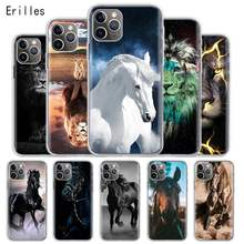Horse Lion Case For Apple iPhone 7 8 6 6S Plus 5 5S SE Coque Capa Soft Silicone For iPhone X Xs 11 12 Pro Max XR Back Cover Shel(China)