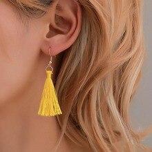 6pcs/set Bohemian Earring Long Tassel Stud Earrings Set For Women Girl Geometric Cheap Brincos Female Jewelry 2019