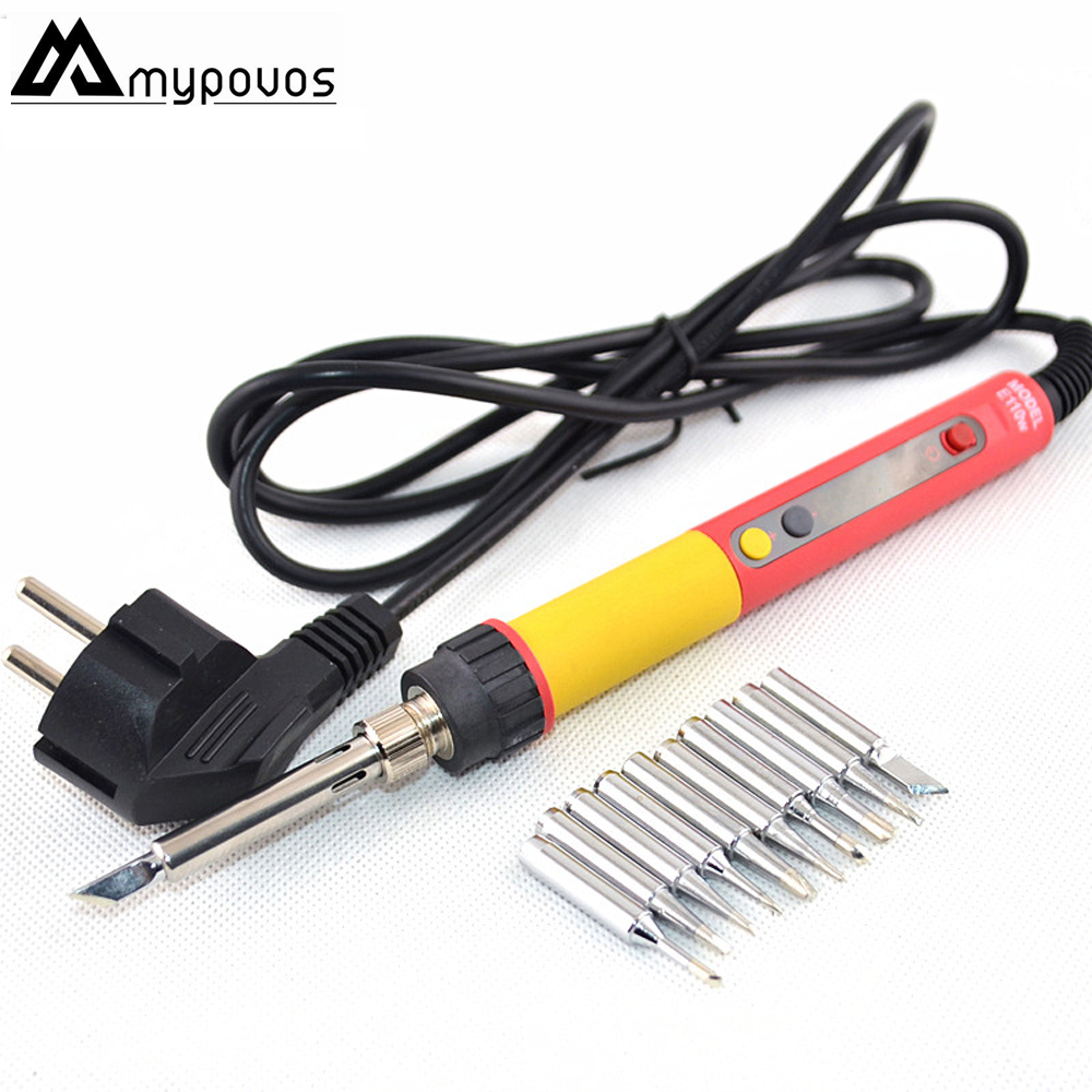CXG E60W E90W E110W Digital LCD Adjustable NC thermostat Electric soldering iron handle Welding repair  10 pcs 900M tips
