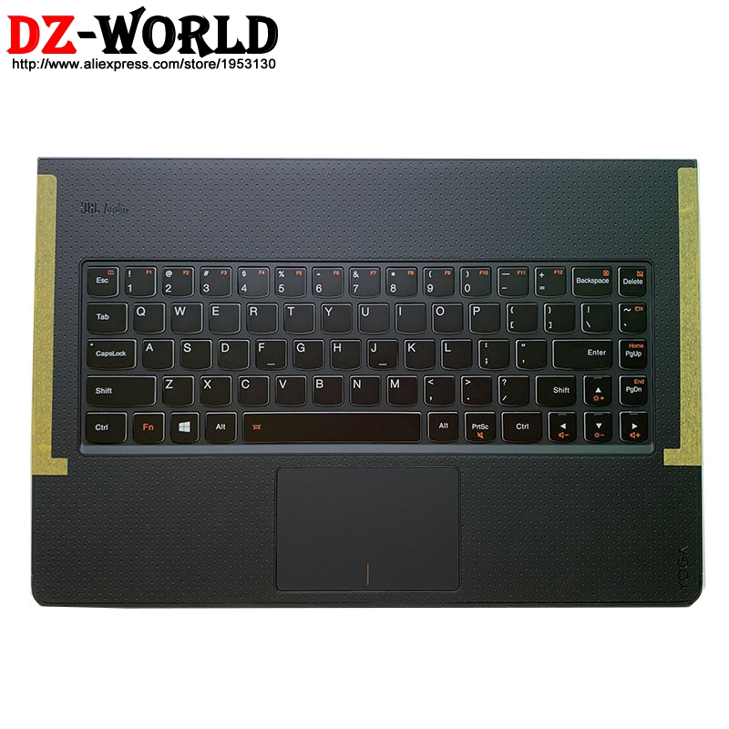 Новый оригинальный верхний чехол с подставкой для рук, клавиатура с подсветкой, тачпад Для lenovo Yoga 3 Pro 1370, ноутбук с крышкой 5CB0G97338