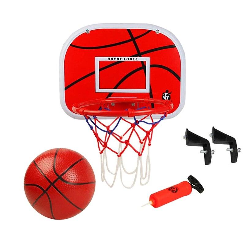 Баскетбольная стойка, детская баскетбольная стойка для помещений, баскетбольная рама, подвесная задняя панель, портативные игрушки для пом...