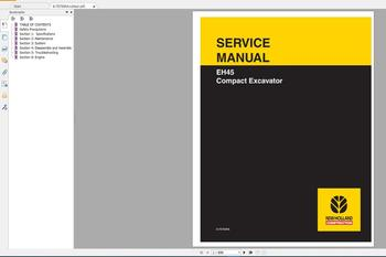 New Holland Construction Equipment Service Manual 2020