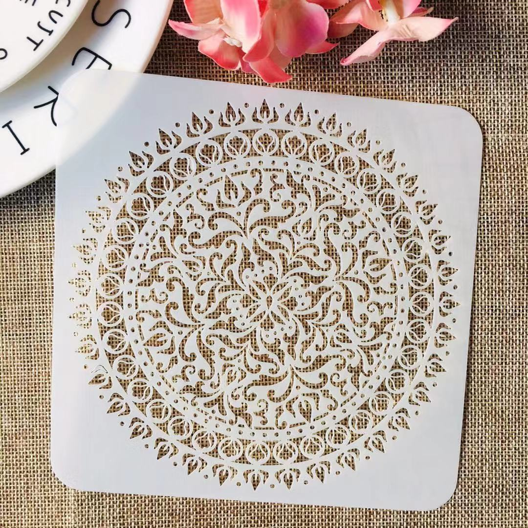 S M L Mandala Wheel Round Square DIY Layering Stencils Painting Scrapbook Coloring Embossing Album Decorative Template