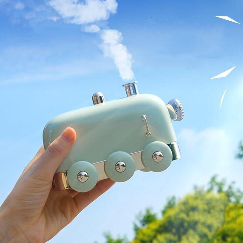Creative Gift Mini Train Humidifier Vocal USB Mini Aroma Diffuser 300ml Beautiful Desktop Diffuser Mini Mist Maker