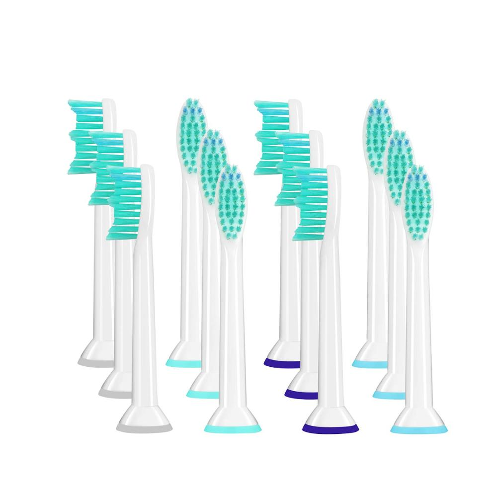 4PCS 8PCS Toothbrush Heads For Philips Sonicare Brush Heads ELectric Toothbrush Sonic Electric Tooth Brush CLean White image