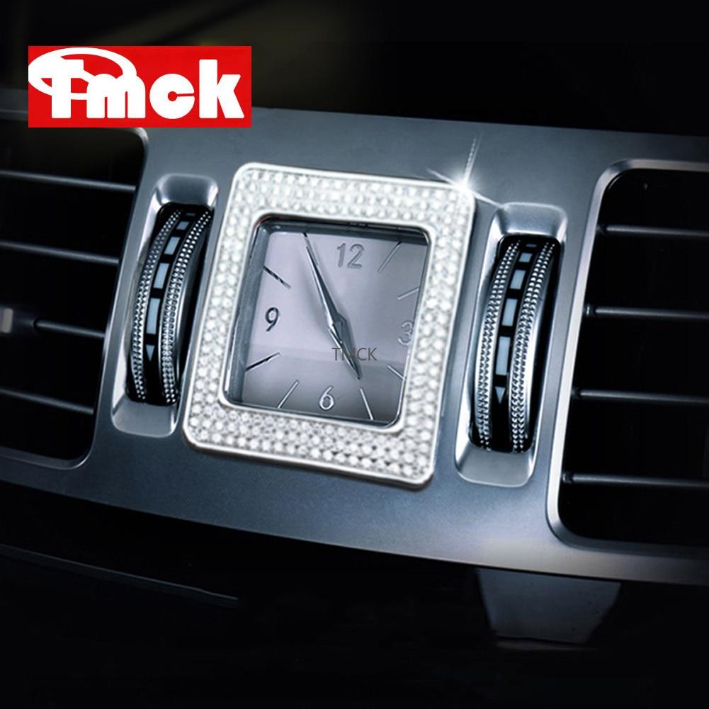 Аксессуары для автомобилей Mercedes Benz E CLS Class W212 W218, центральное управление, часы, стол, часы, кольцо, отделка, бриллиантовая Обложка, наклейка