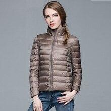 Women Winter Coat 2019 New Ultra Light White Duck Down Jacke