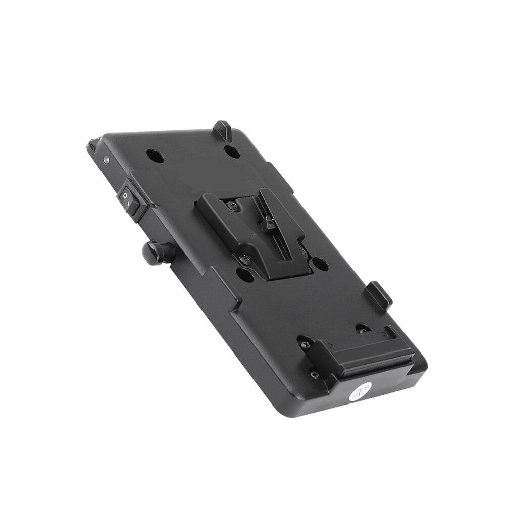Kayulin adaptador de bateria divisor de energia adaptador com liberação rápida fêmea v montagem de bloqueio para câmera dslr luz de vídeo e monitor - 5