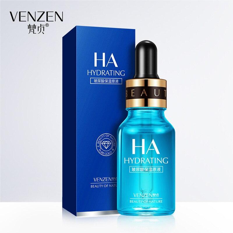 VENZEN Hyaluronic Acid Serum Moisturizing Face Essence Whitening Lifting Firming Anti Wrinkle Cream Acne Treatment Skin Care