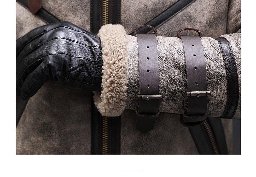 He7e8a08fb2614b79b5d2ea4cb980226cS 2019 Fashion 100% Quality Real Sheepskin Fur Men Coat Genuine Full Pelt Sheep Shearling Male Winter Jacket Brown Men Fur Outwear