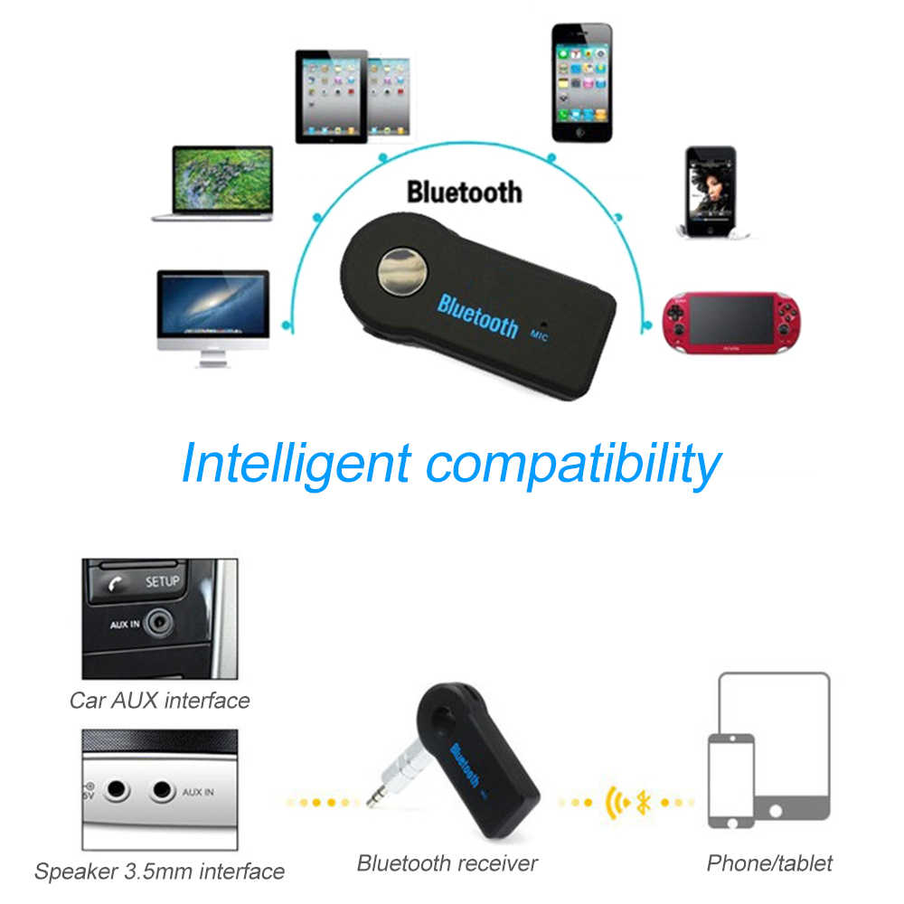 Bluetooth 4.0 Audio Receiver Transmitter 3.5mm AUX Stereo Adapter for PC TV PSP Phone Ipad Video Player