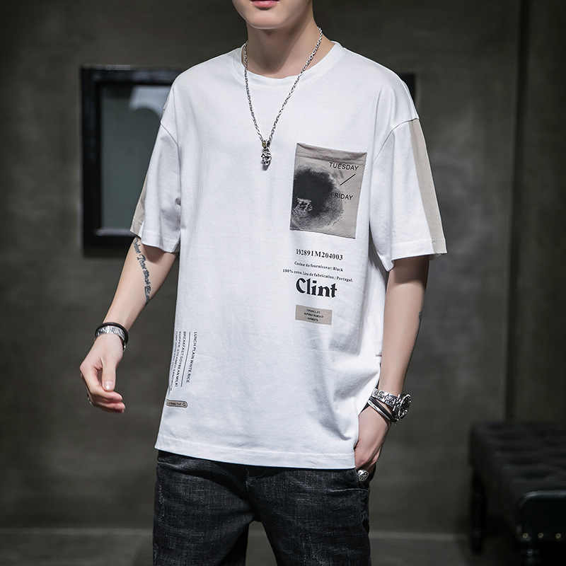 2020 erkekler Hip Hop T gömlek japon Harajuku tişört Streetwear yaz Tees Tops pamuk T Shirt büyük boy HipHop