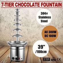 VEVOR шоколадный фонтан 7 ярусов 100 см/39 дюймов из нержавеющей стали автоматический контроль температуры 86-302 ℉ для свадебных вечеринок